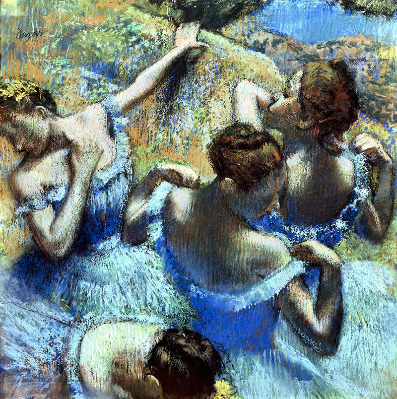 Degas Edgar Blue Dancers buy prints b
